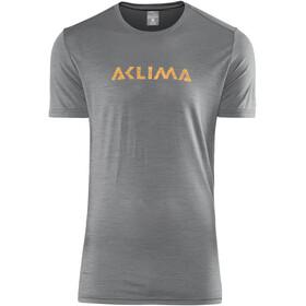 Aclima LightWool LOGO t-shirt Heren grijs